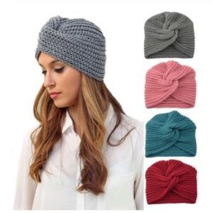 Accessories - Boho Knotted Turban Winter Hat *4 colors